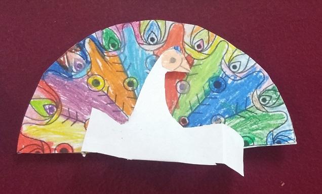 Peacock Craft idea for preschool
