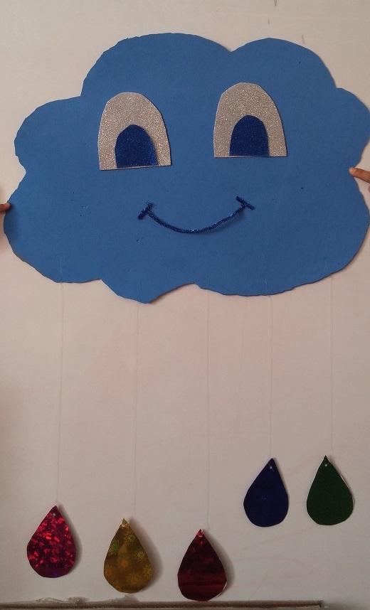 rain craft for kindergarten