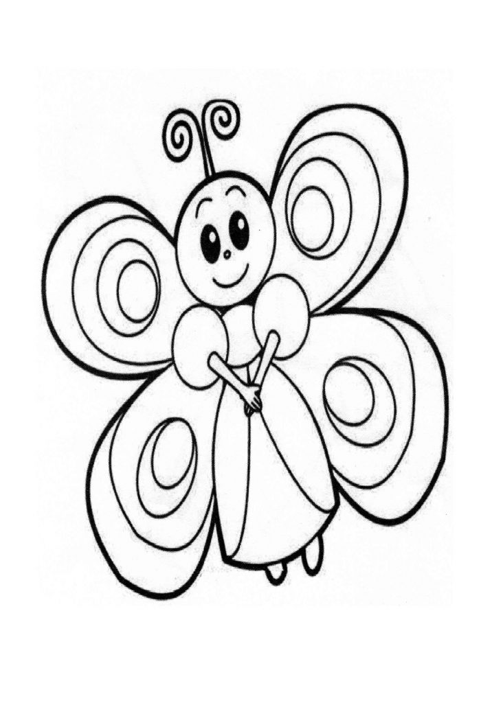 Butterfly Coloring Page - Preschool and Kindergarten