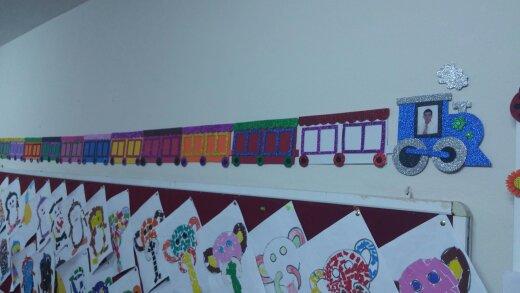 Train craft for kindergarteners