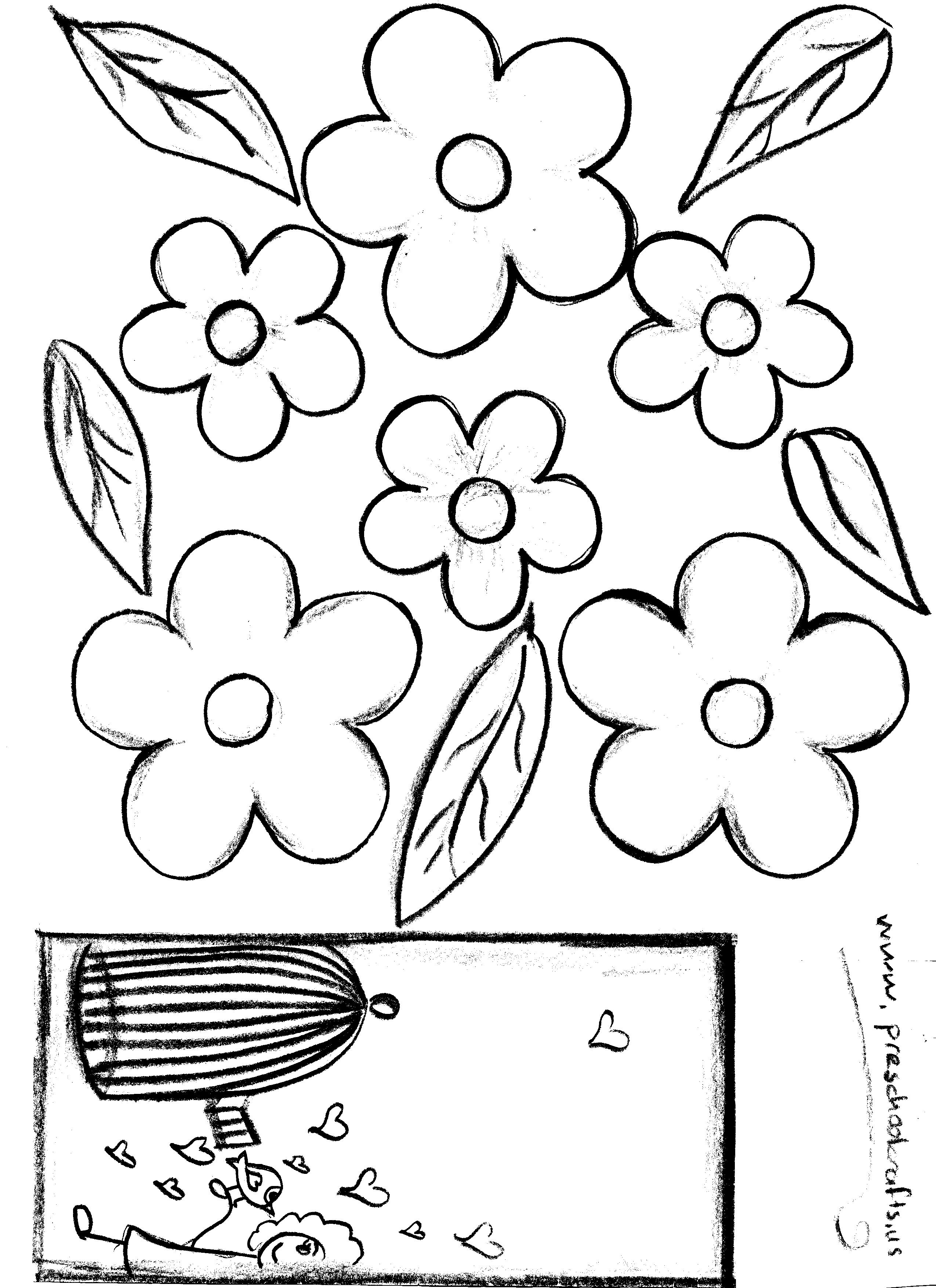 Mother's day craft flower template