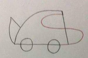 2-easy drawing to car picture worksheets