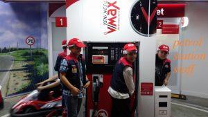 petrol station staff