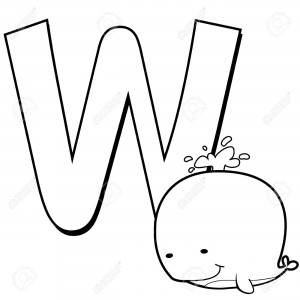 Letter W Coloring Pages For Kids - Preschool and Kindergarten