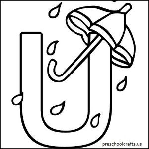 Coloring Alphabet for Kids u with whale Stock Vector whale - preschool alphabet letter u coloring pages worksheets homework