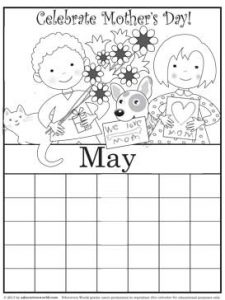 Coloring pages for the month of may