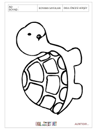 Download printable Turtle coloring pages for preschool