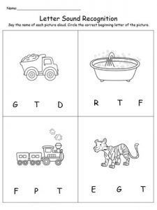 letter and sound recognition letter t worksheets for kindergarten preschool and 7465