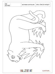 Free printable jaguar coloring page for preschool