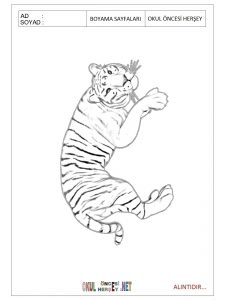 Free printable jaguar colouring pages for preschool