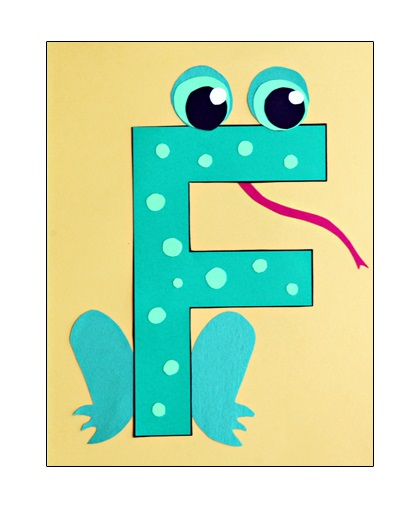 Letter f crafts preschool and kindergarten for Frog crafts for preschoolers