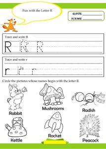Free Letter R Worksheets for Kindergarten and Preschool