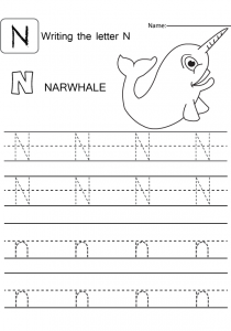 Letter-capital-and-small-N-worksheet