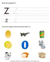 Letter z worksheets for preschool