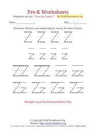 Letter z worksheets ideas for kids