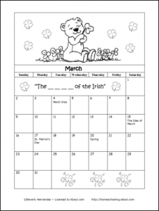 March-calender-coloring-pages