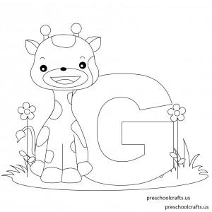 Printable-Animal-Alphabet-Letter-G-is-for-Giraffe