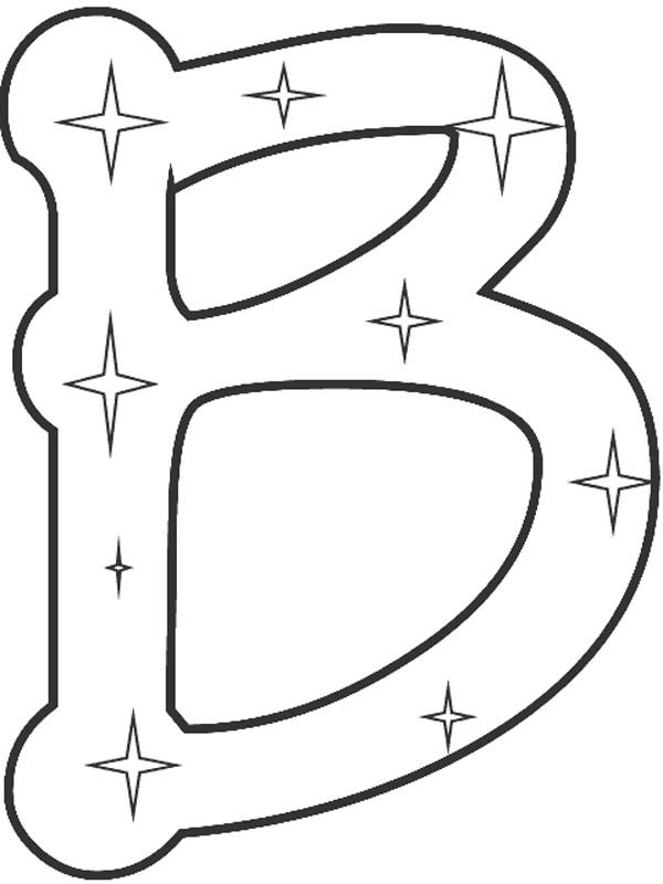 Letter B Coloring Pages - Preschool and ...