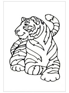Tiger coloring pages ideas for preschool