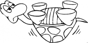 Turtle coloring pages for toddler
