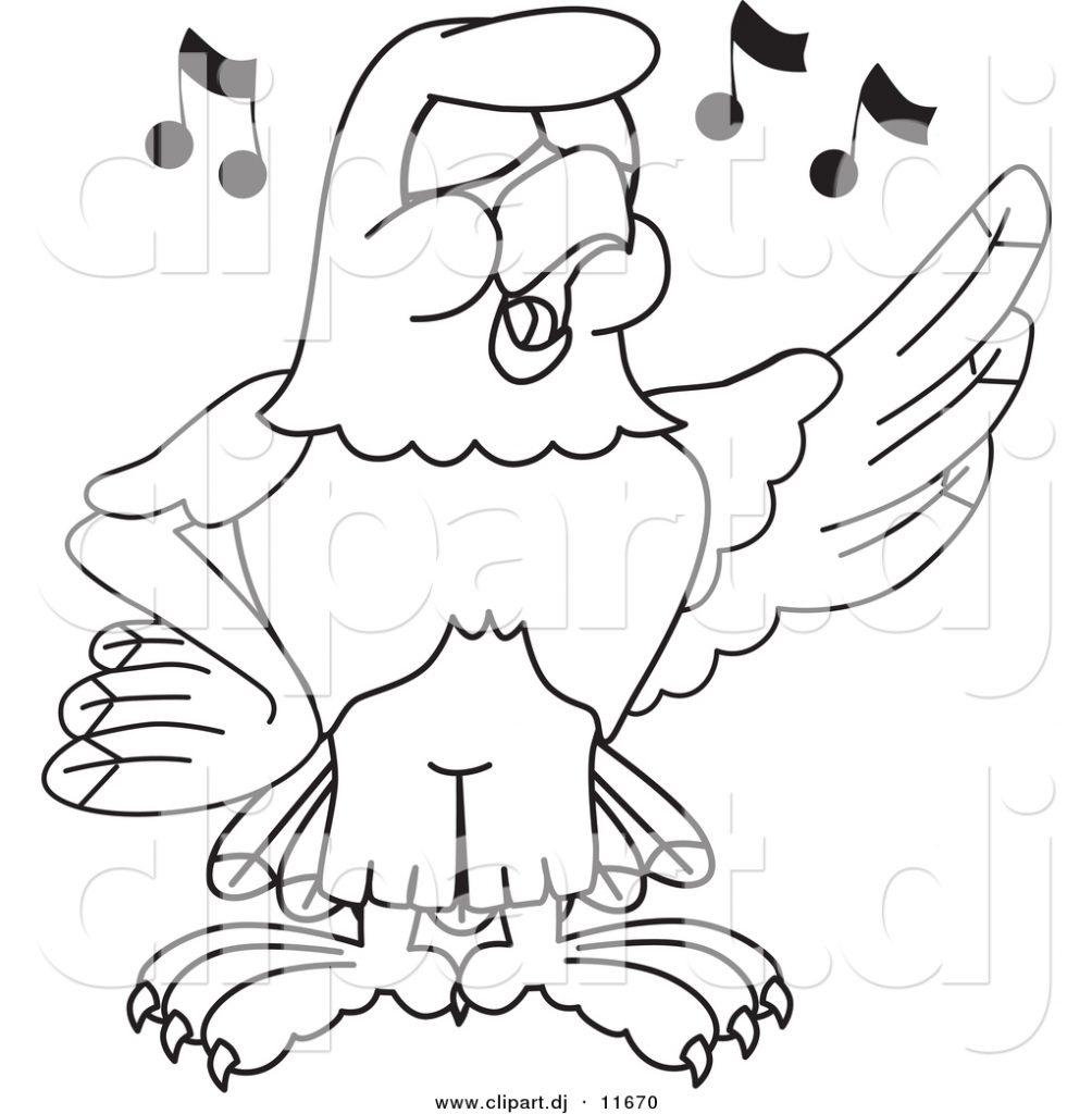 Vector-of-a-Cartoon-Falcon-Singing