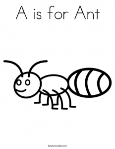 a-is-for-ant-coloring-page