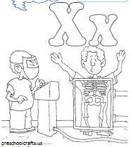 alphabet letter x coloring pages
