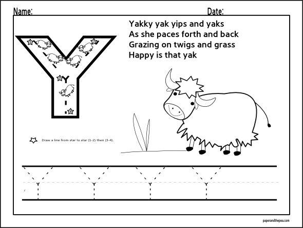 letter y worksheets for preschool preschool and kindergarten. Black Bedroom Furniture Sets. Home Design Ideas
