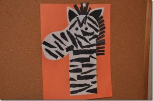 animal zebra craft idea