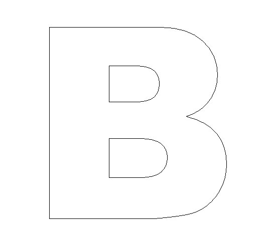 printable letter b outline print letter b letter b crafts for kindergarten preschool and kindergarten 955