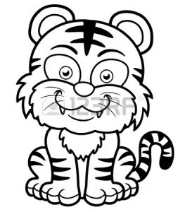 baby Tiger coloring pages ideas for preschool