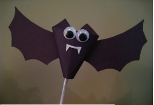 bat craft idea for halloween