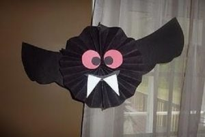 bat craft idea for kindergarten