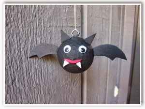 bat craft with golf ball for kids