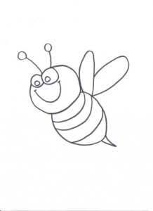 bee coloring pages for children