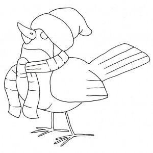 bird coloring page 4