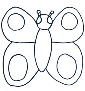 butterfly coloriage