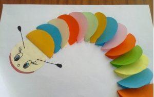 caterpillar crafts idea for kids