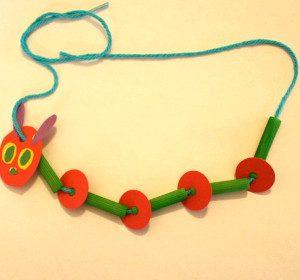 caterpillar neclace craft idea for kids