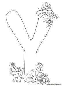 coloring pages letter y