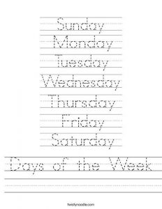days of the week teach