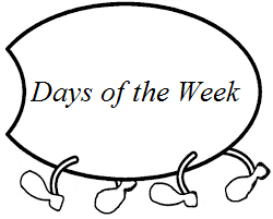 days of the week worksheet for preschool monday