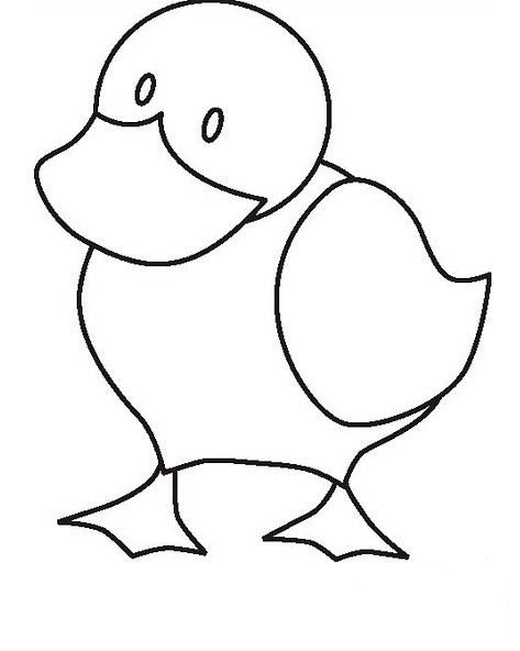 Duck Coloring Pages on Free Preschool Alphabet Coloring Pages