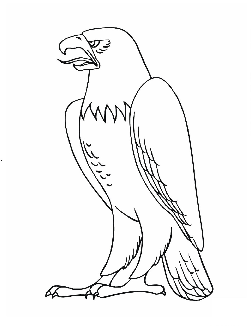 eagle coloring pages for kids