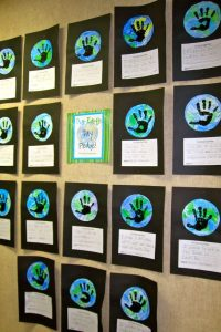 earth days bulletin board fot kindergarten