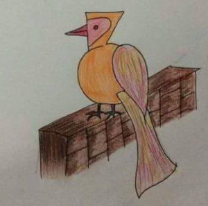 easy bird drawing for kindergarten