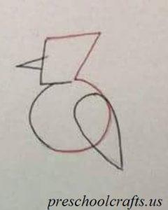 easy bird drawing for preschool