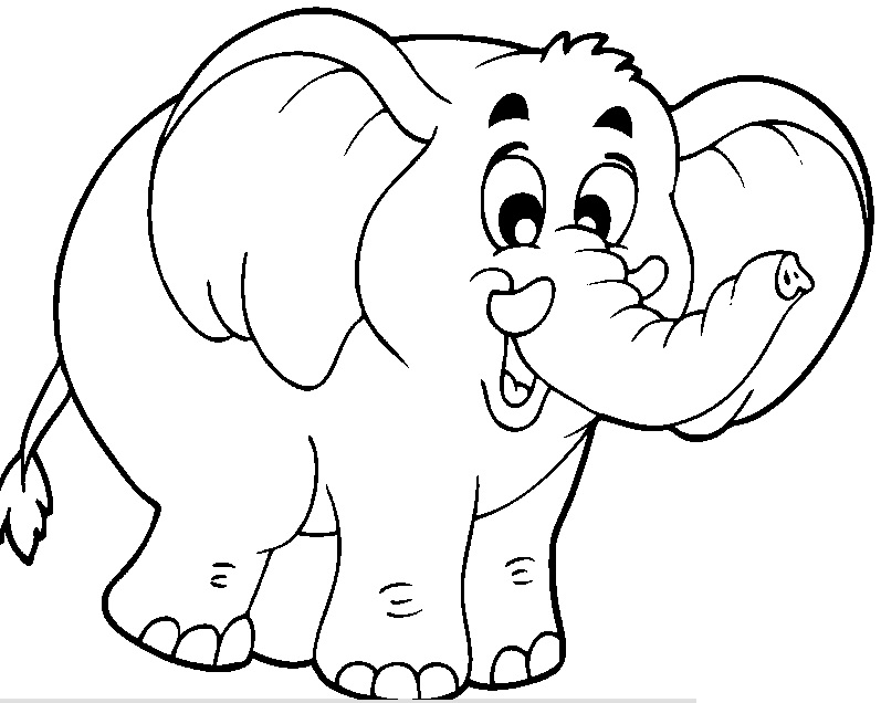 elephant coloring pages for preschool - photo#18