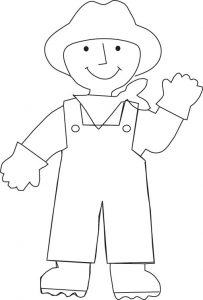 İnternational labor day coloring pages farmer