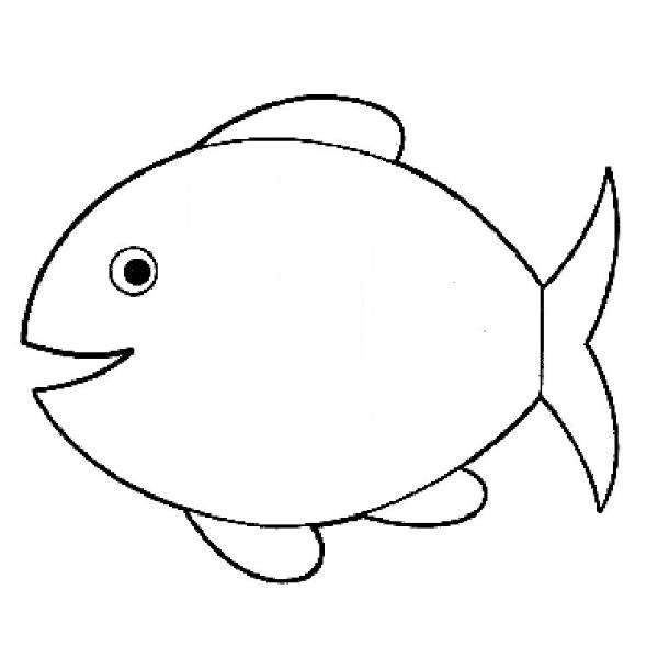 Fish Coloring Pages on Cut Out Worksheets For Kindergarten